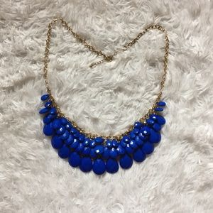 Blue/Gold Statement Necklace